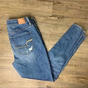 American Eagle Holey Super Stretch Jeans